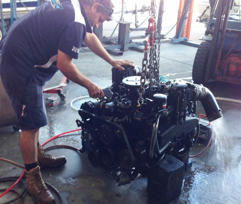 Recent boat engine repowers due to lack of maintenance