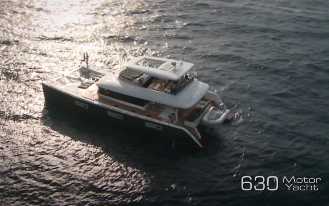 Enchantress, the Lagoon 630 luxury catamaran heading our way